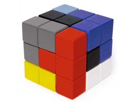 Block Cube 3D Wooden Puzzle