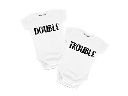 Bodi za bebe - Double Trouble, 3/6