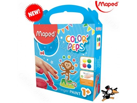 Boje za prste Maped Finger Paint 4x80gr No. 812510