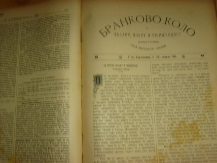 Brankovo kolo za zabavu, pouku i književnost 1903. god