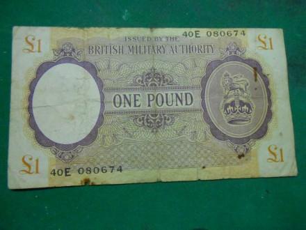 British Military Authority ONE POUND