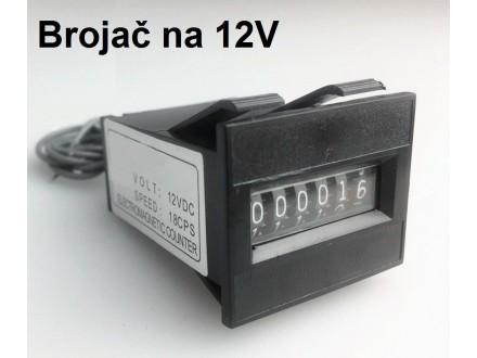 Brojac - Naponski brojac DC naponom 12V
