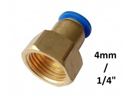 Brza spojnica 4mm na 1/4 sa unutrasnjim navojem (12.8mm