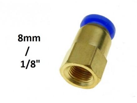 Brza spojnica 6mm na 1/8 sa unutrasnjim navojem (8.8mm)