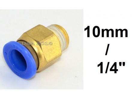 Brza spojnica za vazduh 10mm na 1/4 (približno 12.8mm)