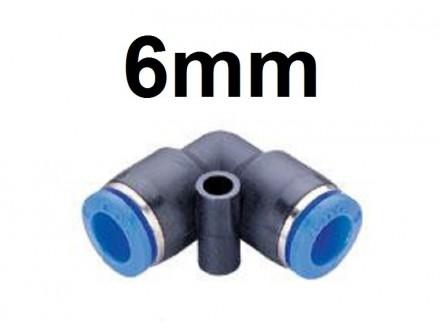 Brza spojnica za vazduh 6mm - L spojni prikljucak
