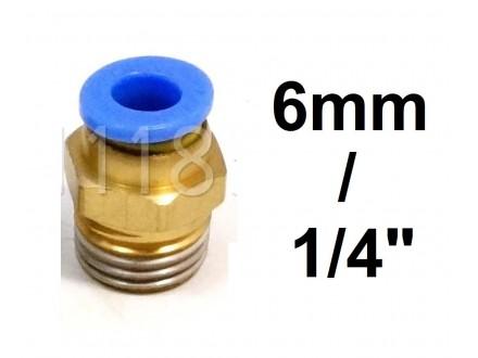 Brza spojnica za vazduh 6mm na 1/4 (približno 12.8mm)