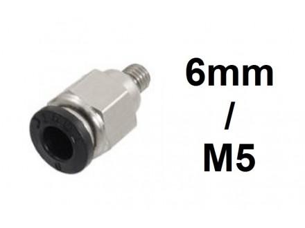Brza spojnica za vazduh 6mm na M5