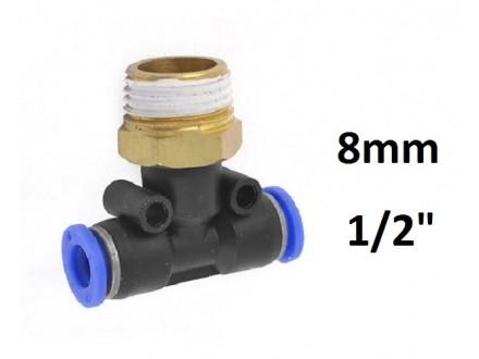 Brza spojnica za vazduh 8mm na 1/2 (20mm) - T racva