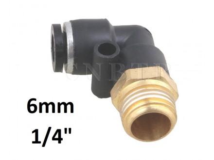 Brza spojnica za vazduh L 6mm na 1/4 (12.7mm) PL06-1/4
