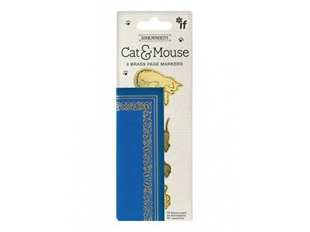 Bukmarker - Bookminders Brass Cat &; Mouse