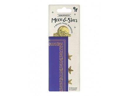 Bukmarker - Bookminders Brass Moon &; Stars
