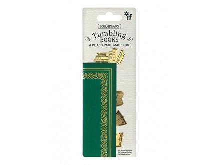 Bukmarker - Bookminders Brass Tumbling Books