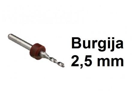 Burgija 2.5mm - Mikro burgija - 1 komad