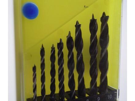 Burgije za drvo, 8 kom, 3-10 mm + BESPL DOST. ZA 3 ART.