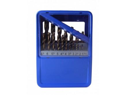Burgije za metal, 19 kom, 1-10 mm
