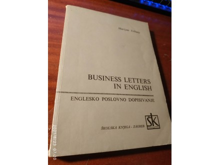 Business letters in english Marijan Urbany