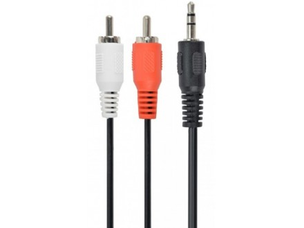 CCAB-458 Gembird 3.5 mm stereo to RCA plug cable, 1.5 m, blister