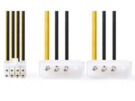 CCGP74400VA015 Interni adapter za napajanje 8 PIN-a - Molex kabl za maticnu plocu i CPU 15cm