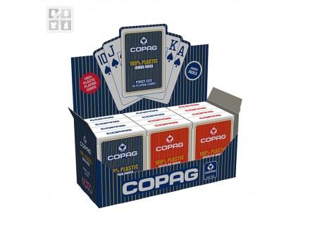 COPAG JUMBO 100% plastične karte - crvene ili plave