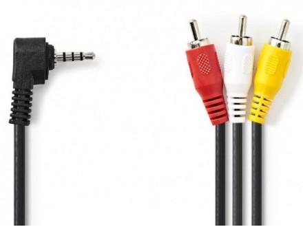 CVGP22400BK20 Jack AV 3.5mm cable Jack AV 3.5mm male - 3x RCA male 2m black