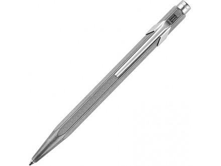 Caran d`Ache 849 Original Raw Aluminium Ballpoint Pen with Chrome Trim, Blue Ink - Caran d`Ache
