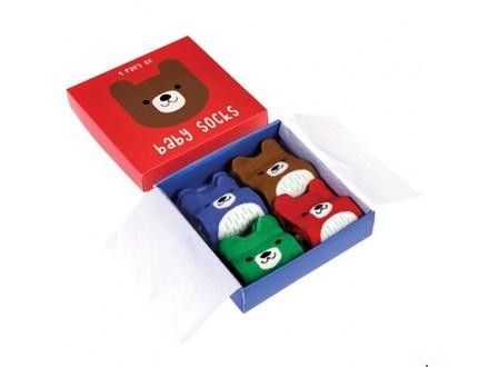 Čarape za bebe set/4 - Bear Design