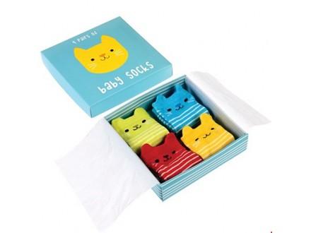 Čarape za bebe set/4 - Kitten