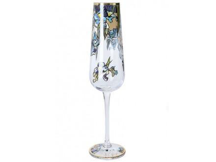 Čaša za šampanjac - Van Gogh, Irises - Van Gogh