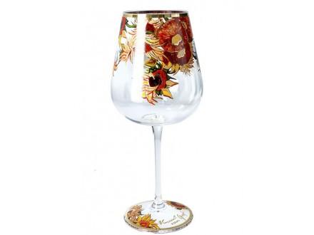 Čaša za vino - Van Gogh, Sunflowers - Van Gogh