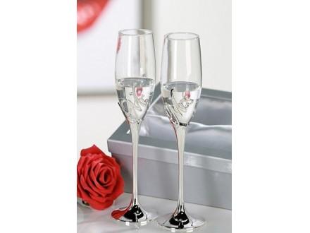 Čaše za šampanjac - Mr+Mrs
