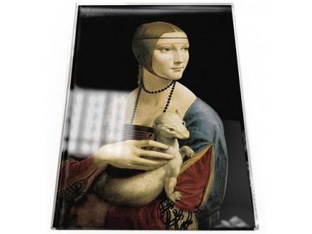 Čestitka - Da Vinci, Lady with Ermine