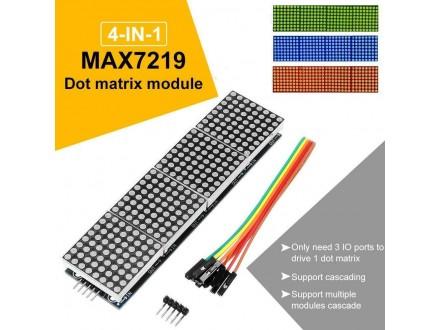 Četvorostruki LED dot matrix modul 8x8 zeleni