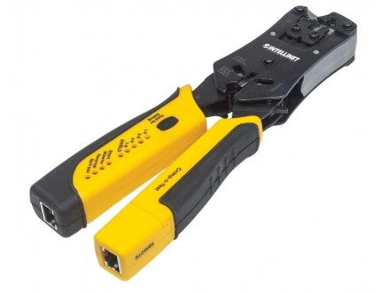 Crimping Tool and Cable tester RJ11/RJ45 Test 6 Cable Blister