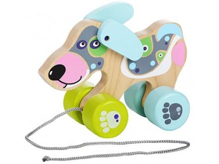Cubika - Drvena igračka na povlačenje, Kuca