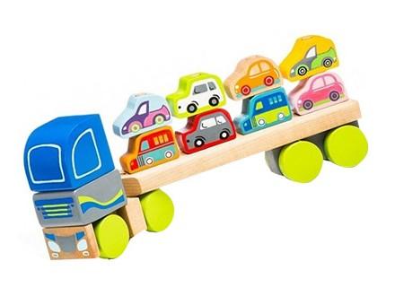 Cubika - Drveni kamion sa automobilima, 12 elemenata