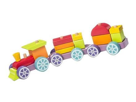 Cubika - Drveni vozić duga, 15 elemenata