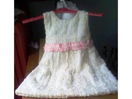 Decija haljina br 3,ruzice na tilu-RASPRODAJA