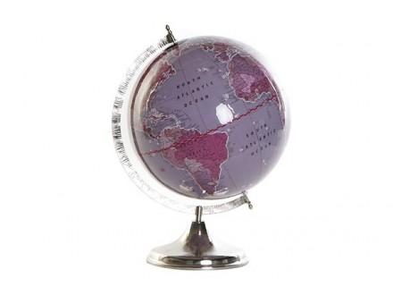 Dekorativni globus sparkly lilac 33x33x44