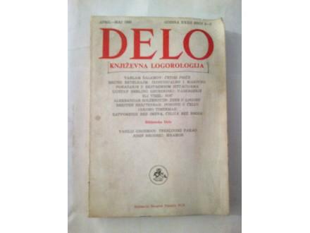 Delo književna logorologija april-maj 1986