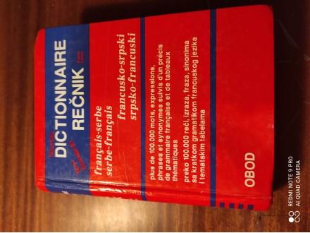 Dictionnaire rečnik francusko srpski