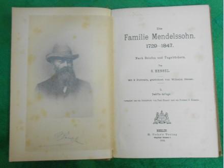 Die Familie Mendelssohn 1729 - 1847. Band 1.