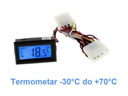 Digitalni LCD termometar sa sondom -30°C do +70°C