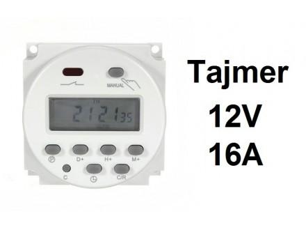 Digitalni tajmer 16A - 12V - WEEKLY TIMER