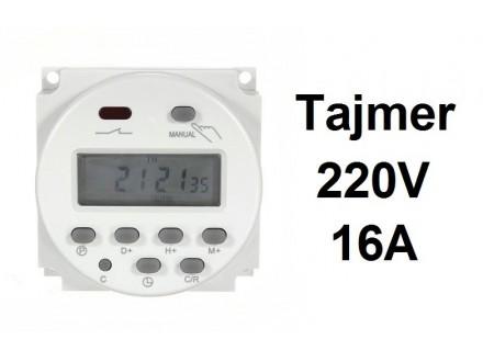 Digitalni tajmer 16A - 220V - WEEKLY TIMER