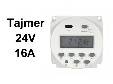 Digitalni tajmer 16A - 24V - WEEKLY TIMER