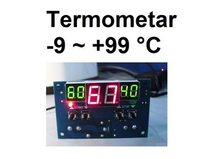 Digitalni termometar -9 do +99 °C - termoregulator