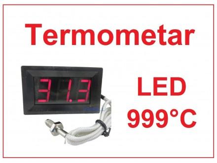 Digitalni termometar sa sondom 0-999°C - LED crveni