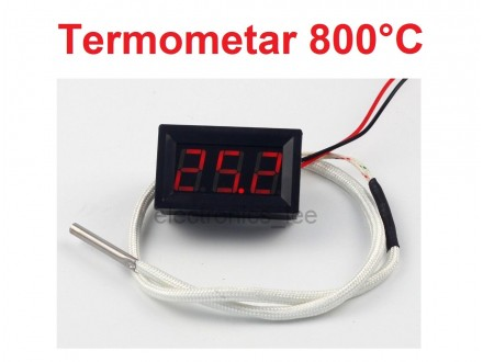 Digitalni termometar sa sondom -30-800°C - LED crveni