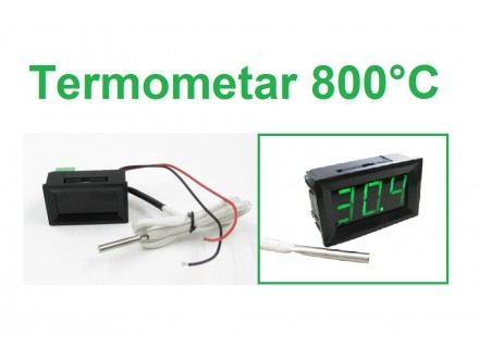 Digitalni termometar sa sondom -30-800°C - LED zeleni